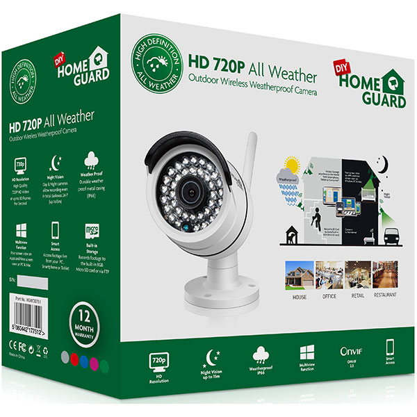 Camera de supraveghere ip wireless homeguard all weather for All weather homes