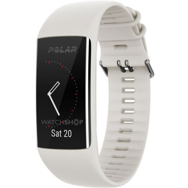 Bratara Fitness Polar A370, Medium/large, White