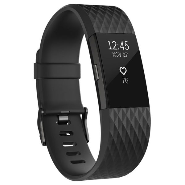 Bratara Fitness Fitbit Charge 2 Black Gunmetal, Large