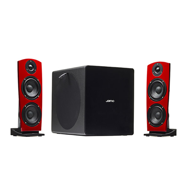 Sistem Boxe Active Si Subwoofer Jamo Ds7 Red, 120w Rms, Rosu