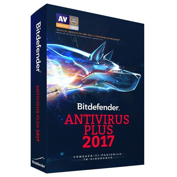 BITDEFENDER Antivirus Plus 2017 1 an 5 PC Retail