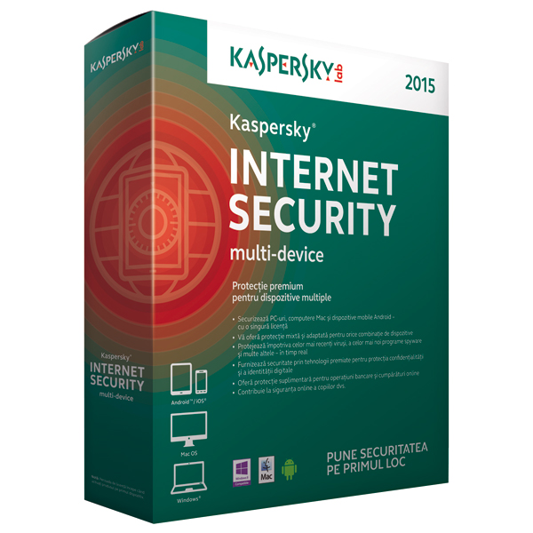 KASPERSKY Internet Security MultiDevice 2015 1 an 3 dispozitive Box