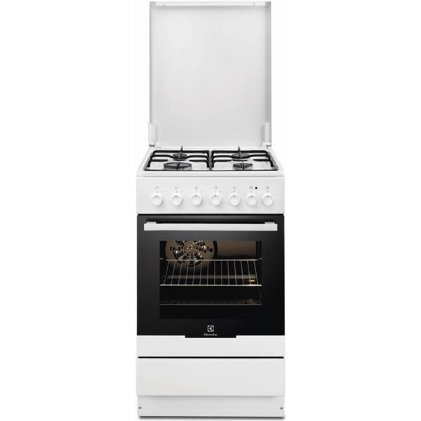 Aragaz ELECTROLUX EKK52500OW 4 zone de gatit gaz  electric grill alb