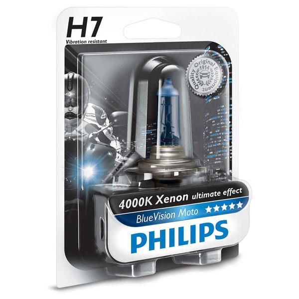 bec moto far halogen philips h7 blue vision 12v 55w. Black Bedroom Furniture Sets. Home Design Ideas