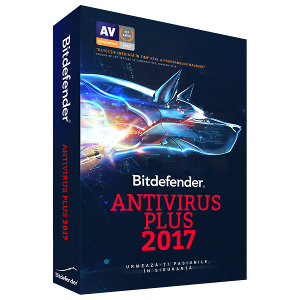 Licenta electronica BITDEFENDER Antivirus Plus 2017 1 an 10 PC Licenta noua