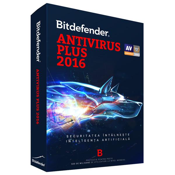 Licenta electronica BITDEFENDER Antivirus Plus 2016 1 an 3 utilizatori
