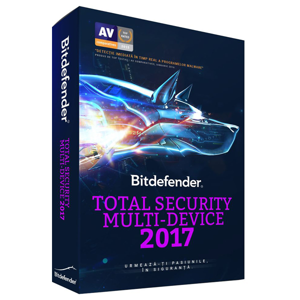 Antivirus BITDEFENDER Total Security MultiDevice 2017 1 an 5 dispozitive Retail