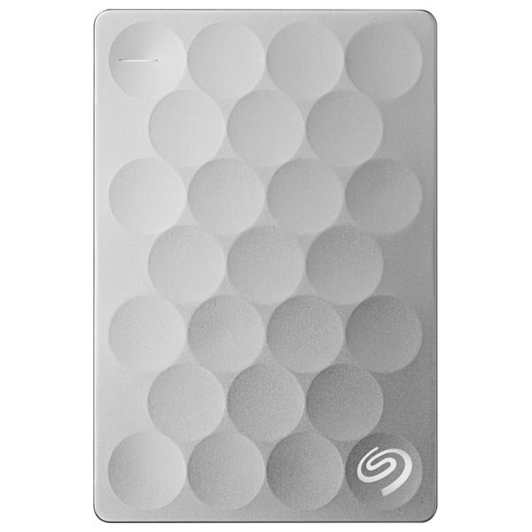 Hard Disk Drive Portabil Seagate Backup Plus Ultra Slim Steh2000200, 2tb, Usb 3.0, Platinum