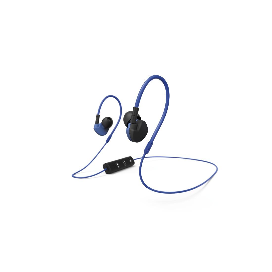 Casti inear cu microfon Bluetooth HAMA Run BT albastru