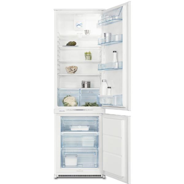 Combina frigorifica incorporabila ELECTROLUX ERN29801 280l A alb
