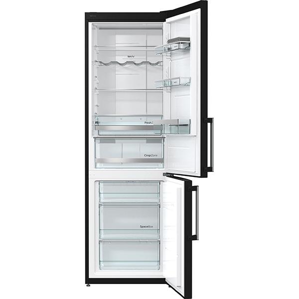 combina frigorifica no frost plus gorenje nrk6192mb 307 l 185 cm a negru. Black Bedroom Furniture Sets. Home Design Ideas