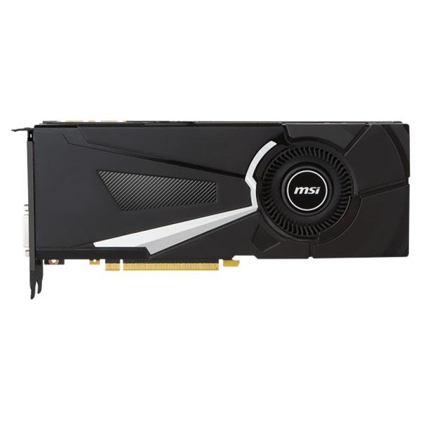 Placa Video Msi Nvidia Geforce Gtx 1080, 8gb Gddr5x, 256bit, Gtx 1080 Aero 8g Oc