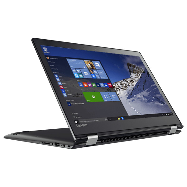 "Laptop 2 in 1 LENOVO Yoga 510-15IKB, Intel® Core™ i7-7500U pana la 3.5GHz, 15.6"" Full HD Touch, 8GB, SSD 256GB, AMD Radeon R7 M460 2GB, Windows 10 Home"