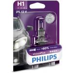 Bec auto far halogen PHILIPS H1 Vision Plus+60%, 12V, 55W, P14.5S, blister 1 bucata