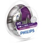 Bec auto far halogen PHILIPS H1 Vision Plus+60%, 12V, 55W, P14.5S, set 2 bucati