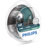 Bec auto far halogen PHILIPS H1 X-treme Vision+130%, 12V, 55W, P14.s, set 2 bucati