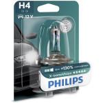 Bec auto far halogen PHILIPS H4 X-treme Vision+130%, 12V, 60/55W, P43T-38, blister 1 bucata