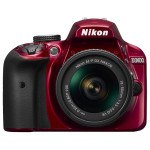 Camera foto DSLR NIKON D3400 + obiectiv AF-P 18-55mm VR , 24.2 Mp, 3 inch, rosu