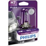 Bec auto far halogen PHILIPS H7 Vision Plus+60%, 12V, 55W, PX26D, blister 1 bucata