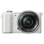Camera foto digitala compacta SONY Alpha A5000 cu obiectiv interschimbabil 16-50mm, 20.1Mp, 3 inch, alb