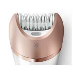 Epilator PHILIPS Satinelle Advanced Wet & Dry BRE650/00, acumulator, alb