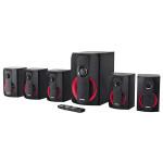 Boxe HAMA PR-5120, 5.1, Bluetooth, negru-rosu