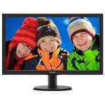 """Monitor LED IPS PHILIPS 240V5QDSB/00, 23.8"""", Full HD, negru"""