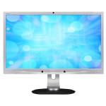 "Monitor LED AMVA PHILIPS 241P4QPYKES/00, 24"" Full HD, Camera Web 2.0MP, Argintiu/Negru"