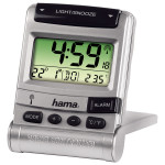Ceas desteptator de voiaj RC100 HAMA 92629, argintiu