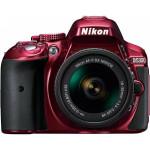 Camera foto DSLR NIKON D5300 + AF-P 18-55mm VR, Red