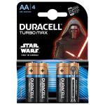 Baterii alcaline DURACELL Turbo Star Wars AA, 4 bucati