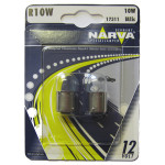 Bec auto halogen NARVA 173114000, R10W, 12V, 10W, BA15S, set 2 bucati