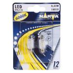 Bec auto LED NARVA 180104000, C5W, 6000K, 12V, 0.35W, SV8.5, 10.5X38, set 2 bucati