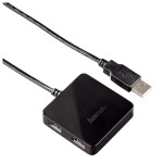 Hub USB HAMA 12131, 4 porturi, negru