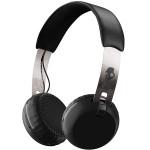 Casti on-ear SKULLCANDY Grind Wireless S5GBWJ-539, Chrome Black