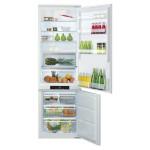 Combina frigorifica incorporabila HOTPOINT BCB 7030 AA F C, No Frost, 260l, A+, alb