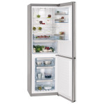 Combina frigorifica AEG S83520CMX2, 312l, A++, argintiu, usa inox antiamprenta