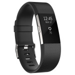 Bratara Fitness FITBIT Charge 2 Black Silver, Large