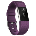 Bratara Fitness FITBIT Charge 2 Plum Silver, Large