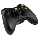 Controller wireless MICROSOFT Xbox 360, 10 butoane, negru