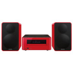 Minisistem ONKYO CS-265 B, 40W RMS, CD, USB, Bluetooth, rosu
