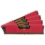 Memorie desktop Corsair Vengeance LPX Red 4x8GB DDR4, 2666MHz, CL16, CMK32GX4M4A2666C16R
