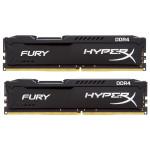 Memorie desktop KINGSTON HyperX Fury Black 2x8GB DDR4, 2666MHz, HX426C15FBK2/16