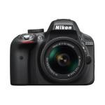 Camera foto DSLR NIKON D3300 + obiectiv AF-P 18-55mm, 24.2 Mp, 3 inch, negru