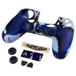 Set accesorii Blue Camo 7 in 1 HAMA pack pentru PS4