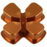 Protectie butoane PS4 - Zedlabz Alloy Metal Directional D Pad, gold