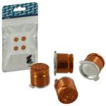 Protectie butoane PS4 - Zedlabz Alloy Metal Bullet X4, gold