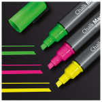 Marker SIGEL Chalk 50 GL182, 1-5 mm, Roz, Verde, Galben