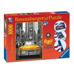 Puzzle RAVENSBURGER - New York Taxi 1000 piese si suport pentru rulat