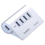 Hub USB ORICO M3H4-SV, 4 porturi USB 3.0, argintiu